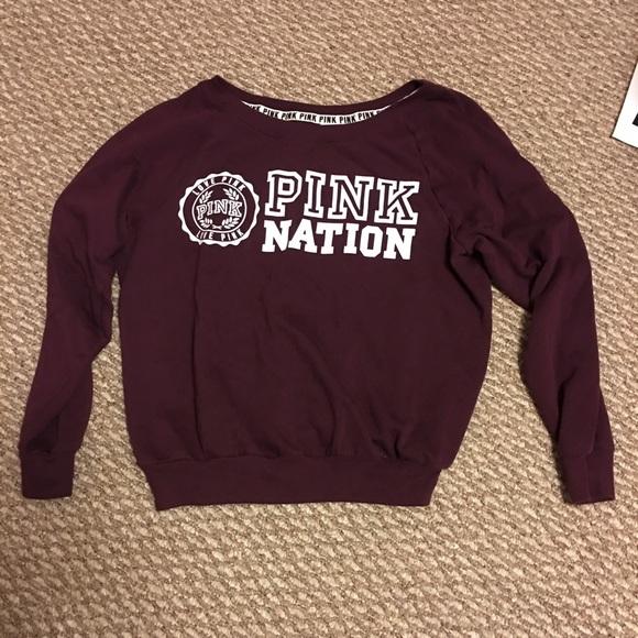 54% off PINK Victoria's Secret Sweaters - Pink Nation Sweatshirt ...