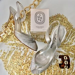 Delman Shoes - Delman Silver Dancing Slingbacks 💃🏾