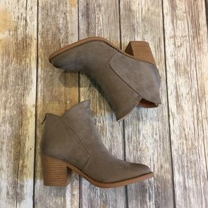 SALE Taupe Bootie