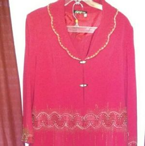 Red and Gold women's plus size set