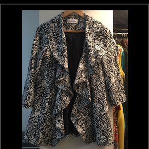 Calvin Klein blazer 3/4 sleeve Black/white size 2