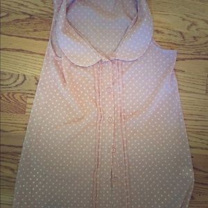 Maternity top-dusty rose pink with dots medium