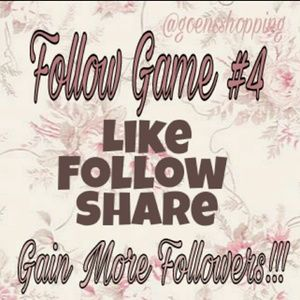 Goensshopping  Other - FOLLOW GAME #4 Gain More FOLLOWERS! Info about me