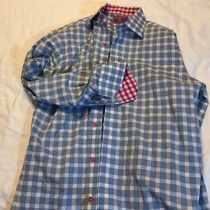 Lorenzo Uomo Other - Blue patterned dress shirt