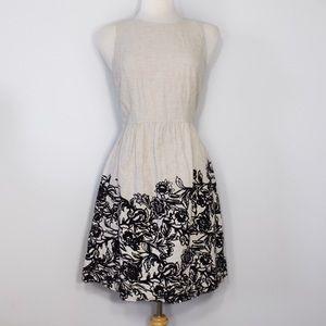 LOFT Dresses & Skirts - ❗️FINAL PRICE❗️ LOFT Cream and Black Floral Dress