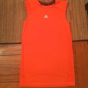 Adidas fitted shirt sleeveless youth large
