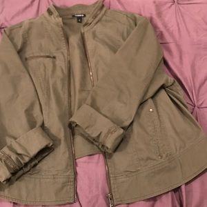 torrid Jackets & Blazers - Torrid Military Style Jacket-Army Green
