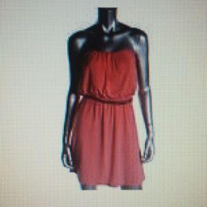 Dresses & Skirts - TRIXXI PINK Strapless Mini Casual  Dress SZ M