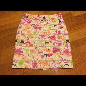 Ann Taylor Petite Floral Pencil Skirt 0P