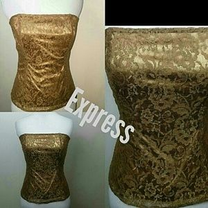 Golden goddess lace bustier tube top  medium