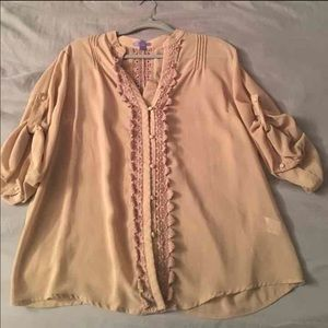 Bluebelle Tops - Sheer tan top by Bluebell
