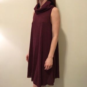 BDG Dresses & Skirts - NWT BDG Burgundy Ribbed Sleeveless Shift Dress