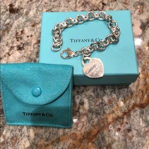 Tiffany & Co. Jewelry - Return to Tiffany heart tag charm bracelet