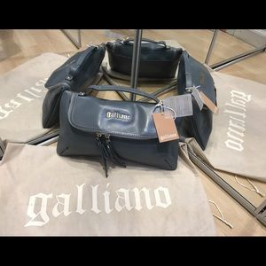 John Galliano Handbags - John Galliano grey handbag