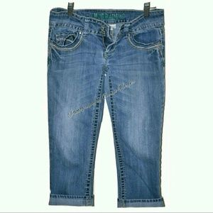 Hydraulic Denim - Crop Pants/Jeans/Capris by Hydraulic Size 3/4