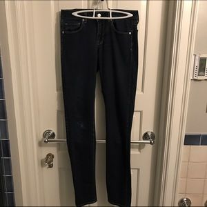 American Eagle Dark Wash Skinny Jean (extra long)