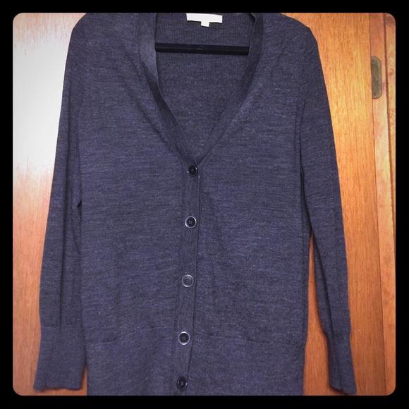26a09185b41 LOFT Sweaters - Grey loft long cardigan sweater