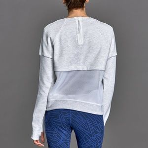 Nike Sportswear Gray Mesh Crewneck Sweater