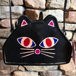 Handbags - Hand Painted Kitty Face Crossbody