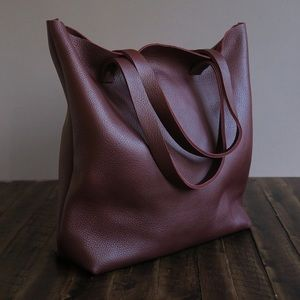 Burgundy Leather Tote