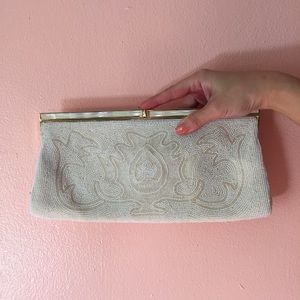 Vintage Pearl Seed Abalone Clutch