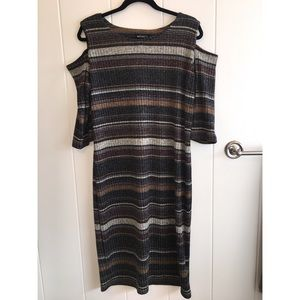 Soho Apparel Dresses & Skirts - NWT SOHO Apparel Knitted Shoulder Cut Out Dress