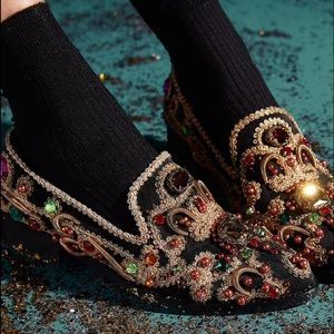 Free People Shoes - Free People Crown Jewel Black Leather Loafers