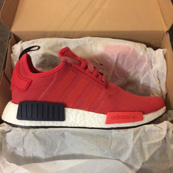 Adidas Shoes   Bn Nmd R1 Women In Red Sz 65   Poshmark bd6e77829a