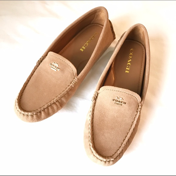 Coach Suede Logo Loafers