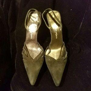 Emanuel Ungaro Shoes - Gorgeous Emanuel Ungaro black suede sling-backs