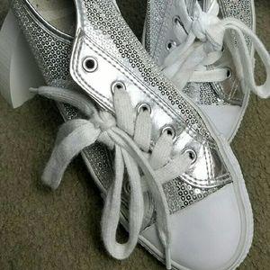 "Gotta Flurt Shoes - ""Gotta FLURT"" Sequined Sneakers"