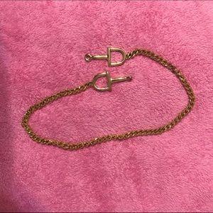 Gold metal chain belt vintage