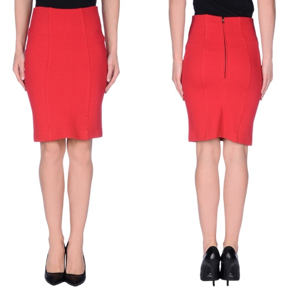 83% off Ganni Dresses & Skirts - Ganni Red Knee Length Skirt from ...