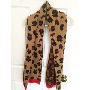 Juicy Couture leopard print scarf