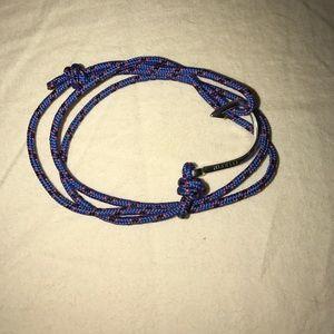 Miansai Other - Authentic Miansai blue bracelet with silver anchor