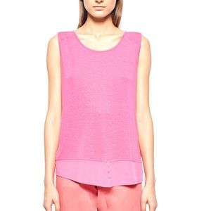 Gerry Weber Tops - SLEEVELESS LAYERED PINK BLOUSE by GERRY WEBER