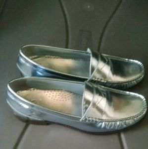 Cole Haan metallic loafers