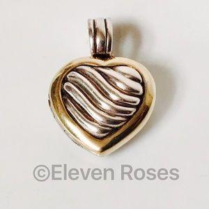 David Yurman Jewelry - David Yurman 925 & 18k Sculpted Cable Heart Locket