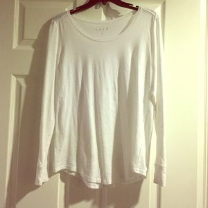 AT Loft white long sleeved top, size small