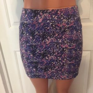 Free People Dresses & Skirts - Free People Colorful Stretchy Mini Skirt size L