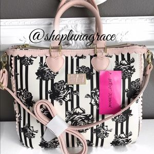 Betsey Johnson Handbags - New🎀BJ Floral 3 Compartment Tote🎀HP🎀