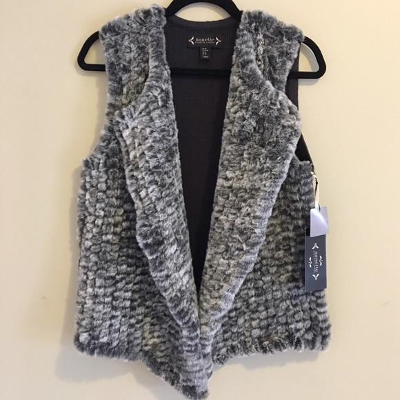 f59fd27bed26 NWT Nanette Lepore Faux Fur Vest