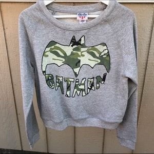 Junk Food Clothing Sweaters - JUNK FOOD SZ SMALL BATMAN CAMO STYLE SWEATER