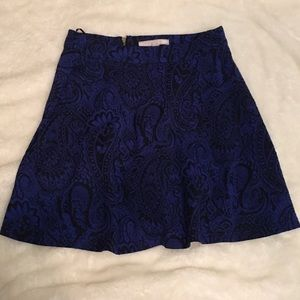 Romeo and Juliet Blue and Black Brocade Skirt