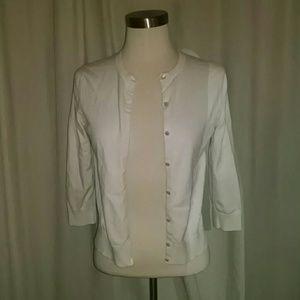 LOFT Sweaters - White cardigan