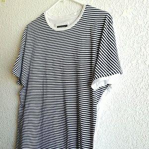 Zanerobe Other - Men's Zanerobe Striped B&W T-Shirt  Size Medium