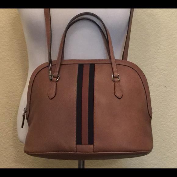 a89d2588090 Gucci Leather web stripe cross body dome bag NWT!!