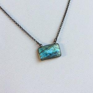 Oxidized Sterling Silver & Labradorite Necklace