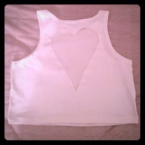 Necessary Clothing Tops - Necessary Clothing Heart back Crop Top L