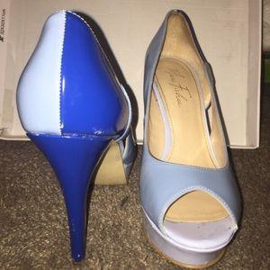 Marc Fisher Shoes - Marc Fisher Open toe blue Platform Heels
